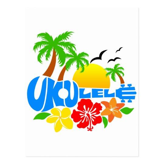 Ukulele Island Logo Postcard