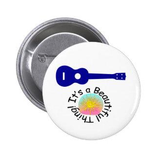 Ukulele: It's a Beautiful Thing 2 Inch Round Button