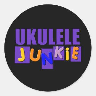 Ukulele Junkie Classic Round Sticker