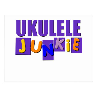 Ukulele Junkie Postcard