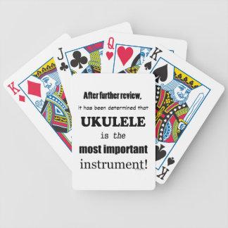 Ukulele la mayoría del instrumento importante barajas de cartas