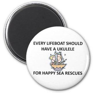 Ukulele Lifeboat 2 Inch Round Magnet