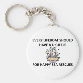 Ukulele Lifeboat Keychain
