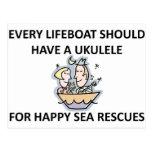 Ukulele Lifeboat Post Cards