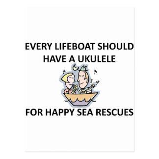 Ukulele Lifeboat Postcard