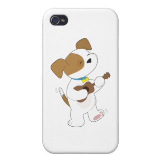 Ukulele lindo del perrito iPhone 4/4S carcasa