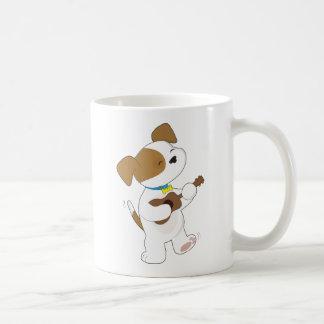Ukulele lindo del perrito taza de café