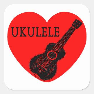 Ukulele Love Square Sticker