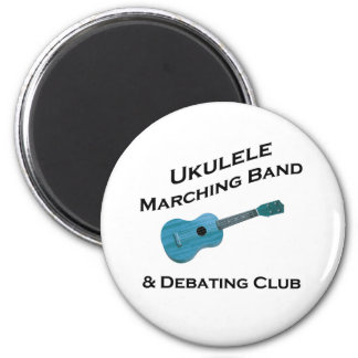 Ukulele Marching Band & Debating Club 2 Inch Round Magnet
