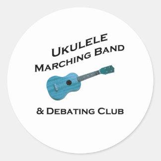 Ukulele Marching Band & Debating Club Classic Round Sticker
