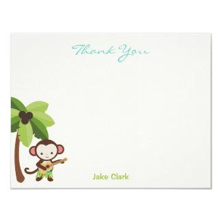 Ukulele Monkey Thank You Card