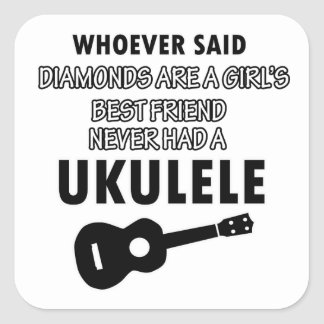 Ukulele musical instrument designs square sticker