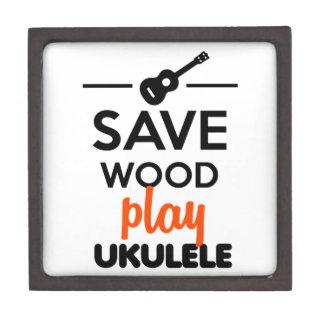 Ukulele Musical Instrument - Save Wood play ukulel Premium Trinket Box
