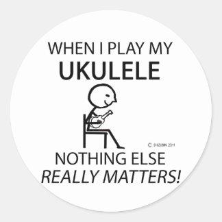 Ukulele Nothing Else Matters Classic Round Sticker