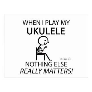 Ukulele Nothing Else Matters Postcard