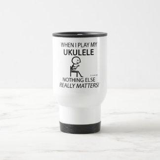 Ukulele Nothing Else Matters Travel Mug