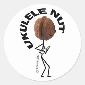 Ukulele Nut Classic Round Sticker