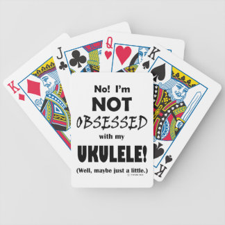 Ukulele obsesionado baraja de cartas