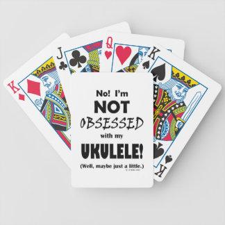 Ukulele obsesionado baraja cartas de poker