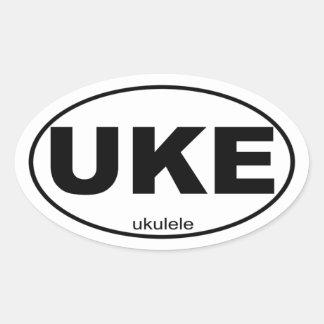 Ukulele Oval Sticker