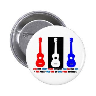 Ukulele Patriotism Buttons