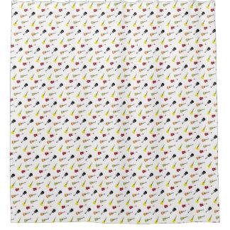 Ukulele Pattern Musical Shower Curtain
