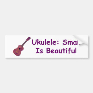 Ukulele: Pequeño es hermoso Pegatina De Parachoque