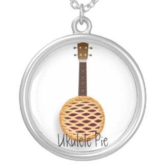 Ukulele Pie Round Pendant Necklace