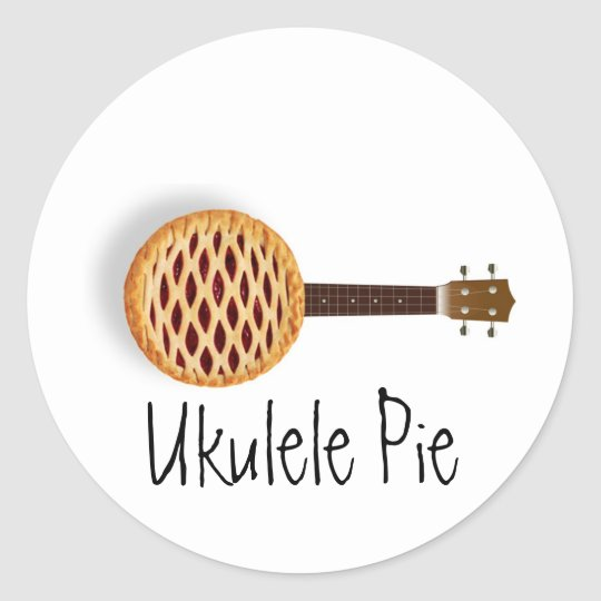 Ukulele Pie Stickers