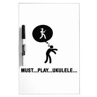 Ukulele Player Dry Erase Whiteboard