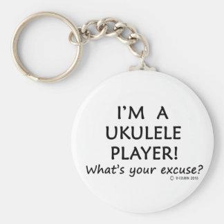 Ukulele Player Excuse Basic Round Button Keychain