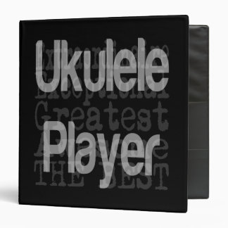 Ukulele Player Extraordinaire 3 Ring Binder