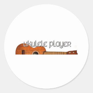 Ukulele Player Magazine Logo Classic Round Sticker