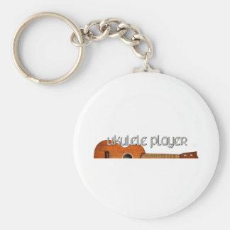 Ukulele Player Magazine Logo Keychain