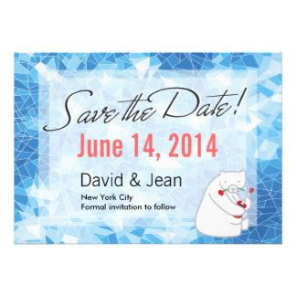 Ukulele Polar Bear Save the Date Announcement