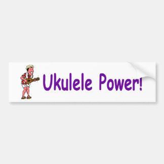 Ukulele Power! Car Bumper Sticker