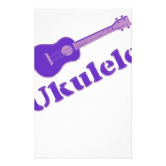 Ukulele púrpura papelería