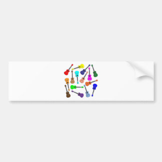 Ukulele Rainbow Bumper Sticker