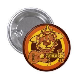 "Ukulele Rangers ""Bear + Uke"" Cartoon Mini-Button Button"