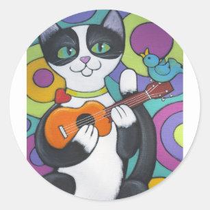 Ukulele Serenade Classic Round Sticker