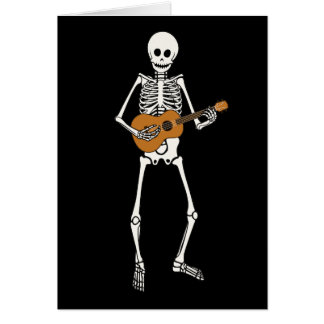 Ukulele Skeleton Card