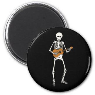 Ukulele Skeleton Fridge Magnet