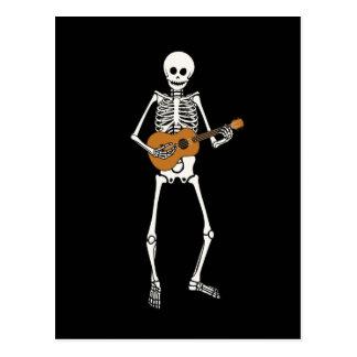 Ukulele Skeleton Postcard