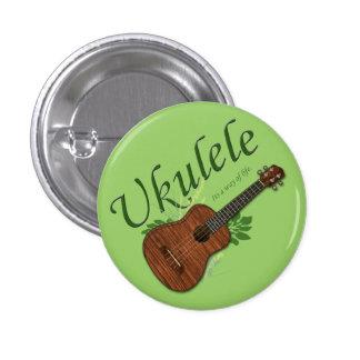 Ukulele-Su una manera de pequeño botón de la vida Pin