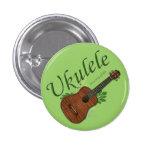 Ukulele-Su una manera de pequeño botón de la vida Pin Redondo De 1 Pulgada