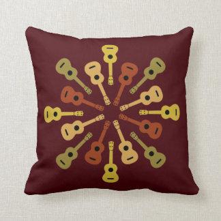 Ukulele throw pillow