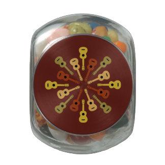 UKULELE tins & jars Jelly Belly Candy Jars