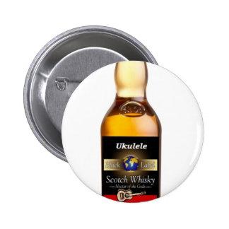 Ukulele Whiskey Pinback Button