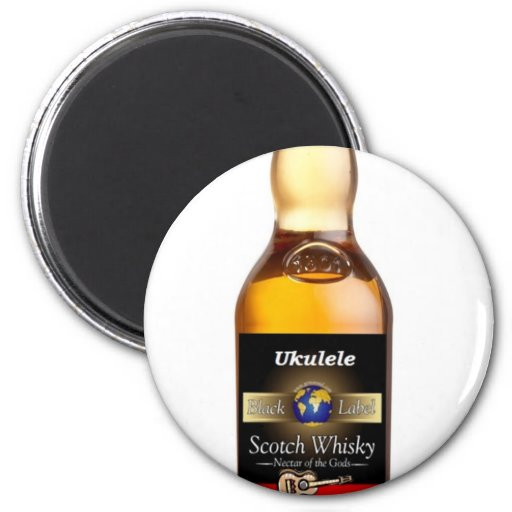 Ukulele Whiskey Fridge Magnet