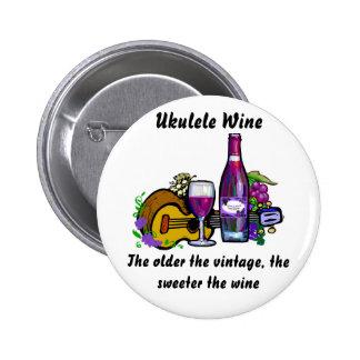 Ukulele Wine 2 Inch Round Button